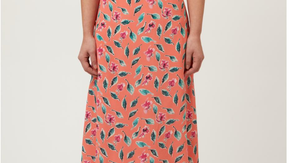 allie + grace - Jan Dolores Orange, Pink & Green Dress
