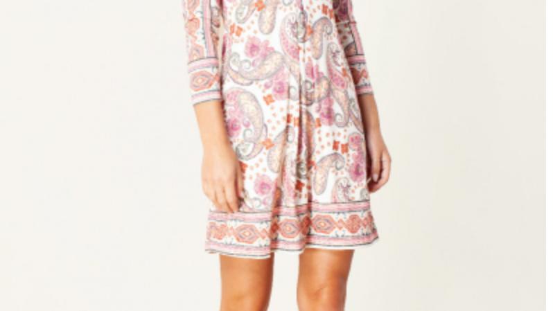 Hale Bob - Dianne Jersey Dress- Ivory