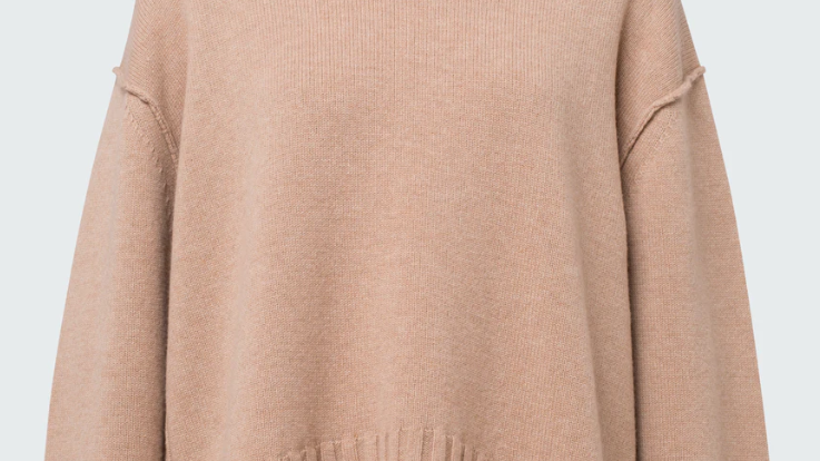 Dorothee Schumacher - Deconstructed Look Sweater Turtle - Milky Toffee