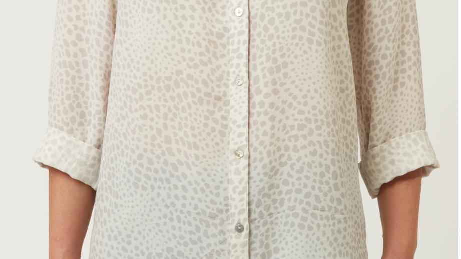 allie + grace - Calum Grey Silk Shirt