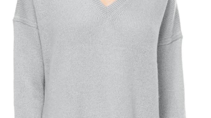 360 Cashmere - Siena V-Neck Sweater Misty Blue
