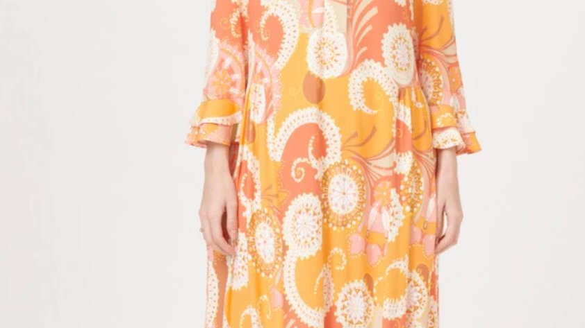 Dea Kudibal - ROSANNA (V) - Khanga Orange - Dress