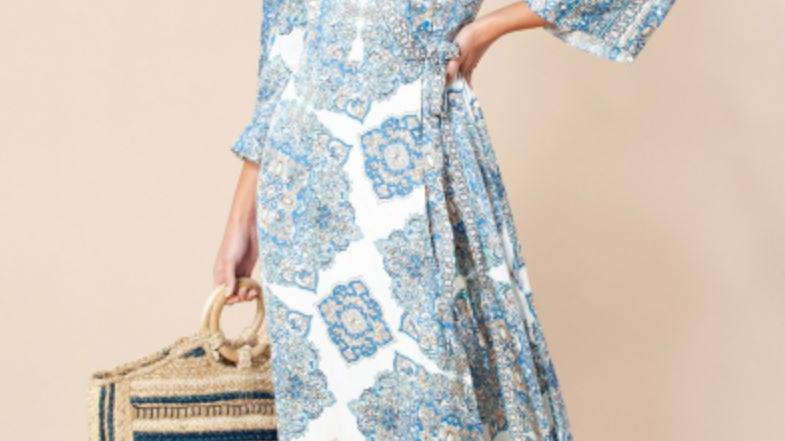 Hale Bob - JOY WRAP DRESS - Blue