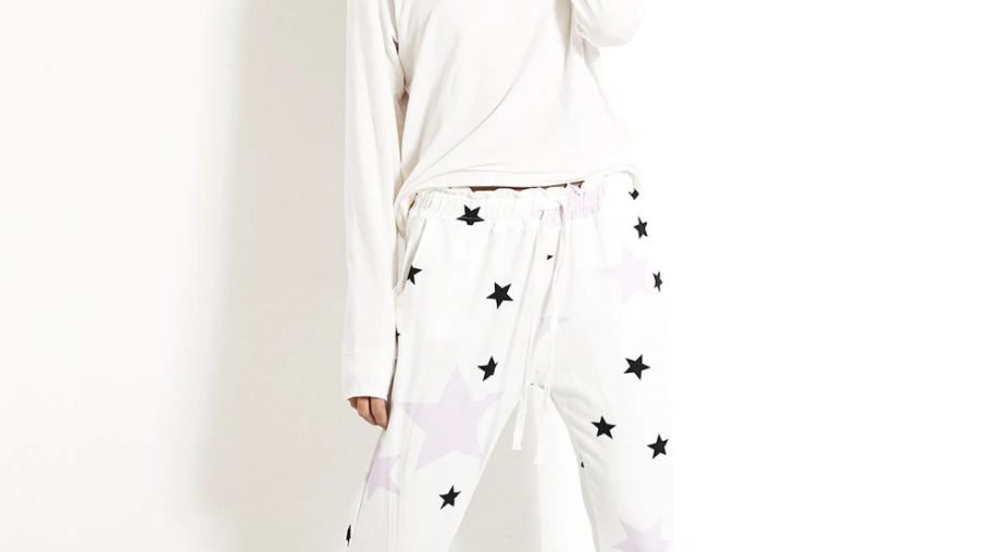 Stripe & Stare - Lounge Pant - Pink Star
