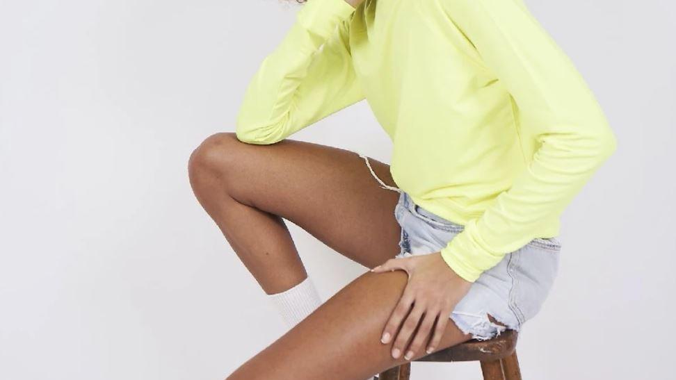 Stripe & Stare - Sweatshirt - Lemon Sherbet