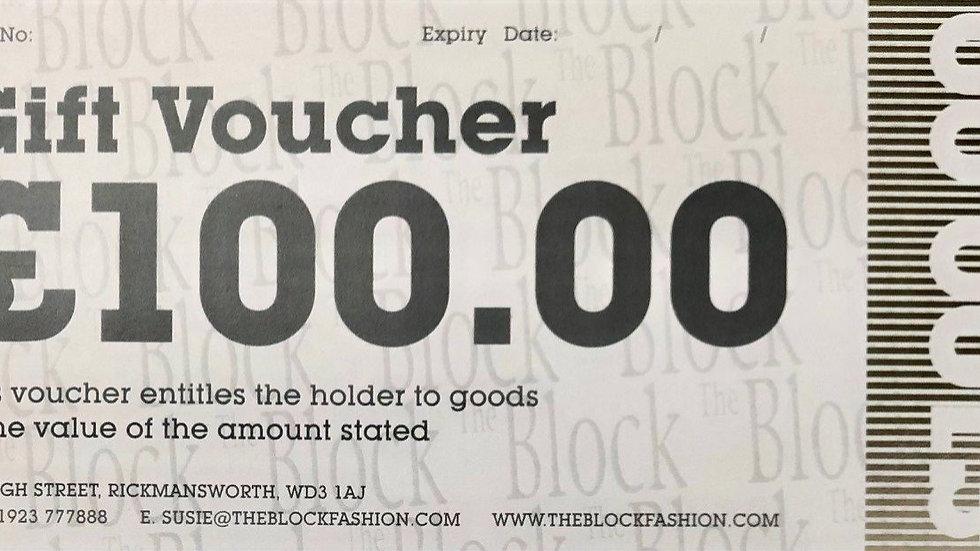 The Block Fashion £100.00 - Gift Voucher