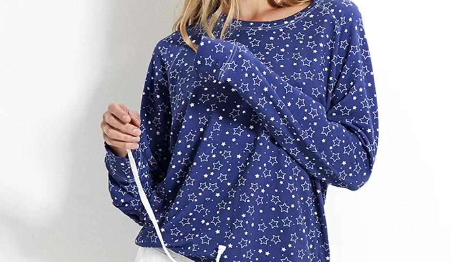 Stripe & Stare- Sweatshirt - Starry Night