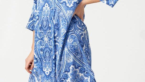Dea Kudibal - KAMILLE - Paisley Blue - Dress
