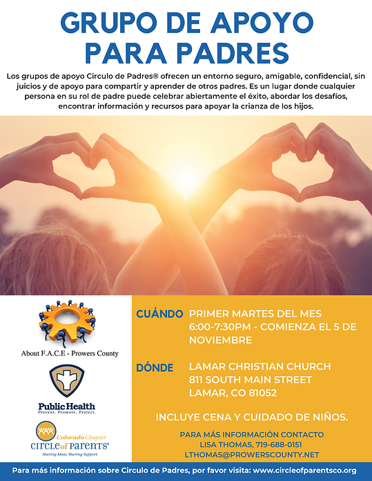 Lamar Circle of Parents Flyer - Spanish.
