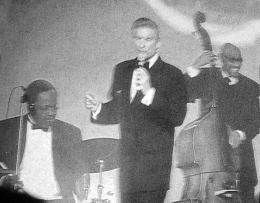 DJP & drummer Garrick King with the always smiling John B. Williams