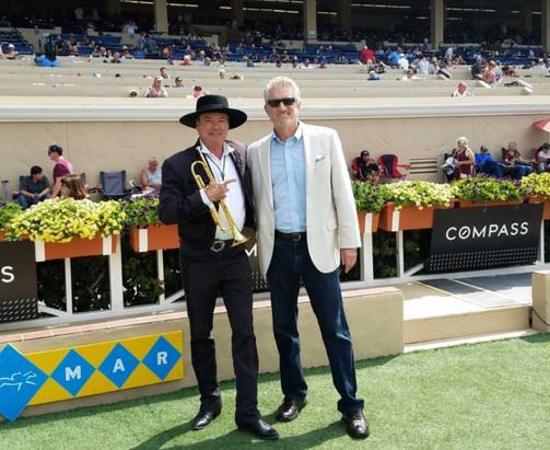 With Del Mar Race Track trumpeter Les Kepics