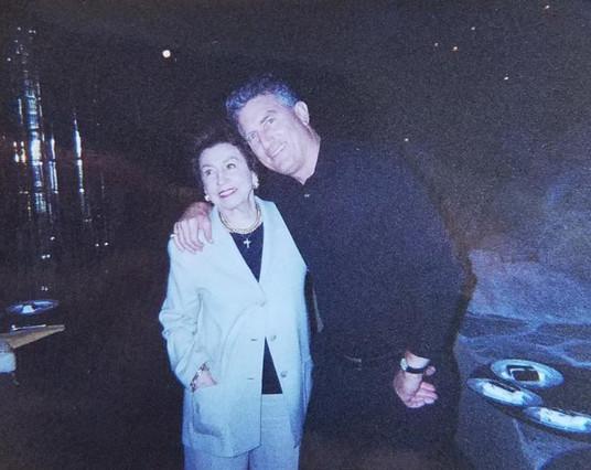 With Nancy Barbato, mother of Frank Sinatra's children