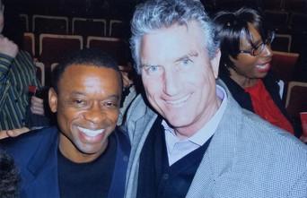 With Clayton Hamilton (Tony Bennett's drummer)