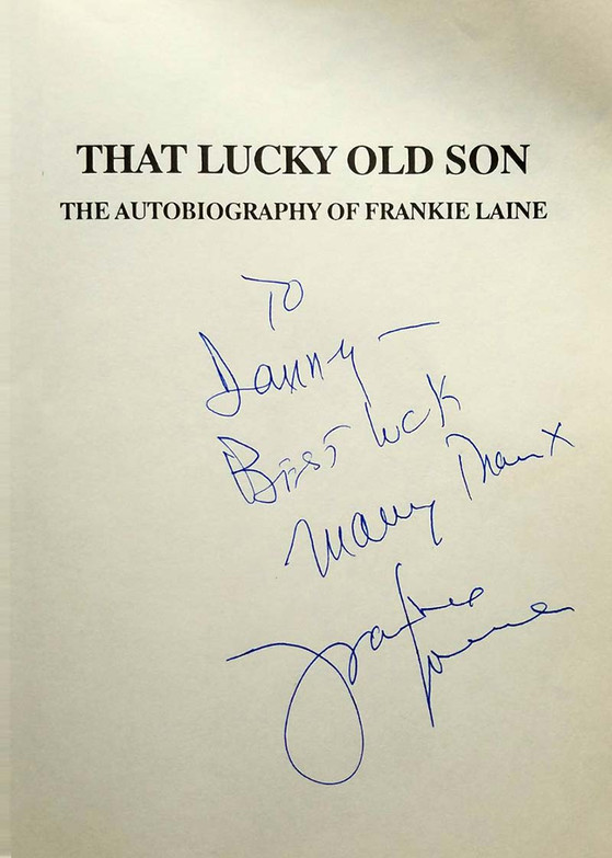 Signed book by Frankie Laine