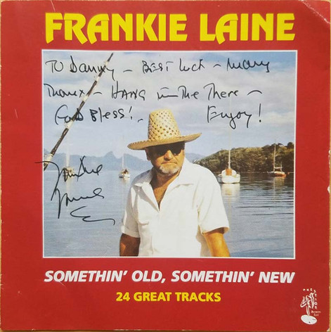 Personal signature from Frankie Laine