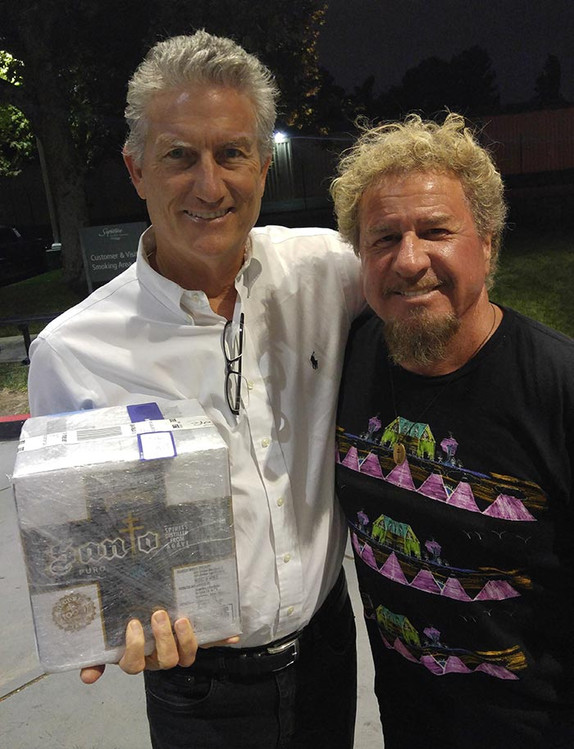 With Sammy Hagar & his tequila launch, Long Beach, CA