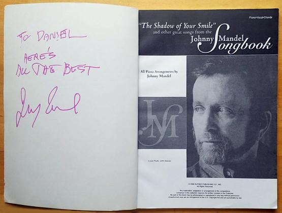 Johnny Mandel's signed Songbook