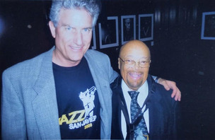 With Red Holloway, saxophone legend