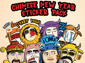 Free Download - Quirky CNY Sticker Pack