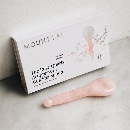Naked Natural | Rose Quartz Acupressure Gua Sha Spoon