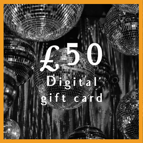 Digital Giftcard £50