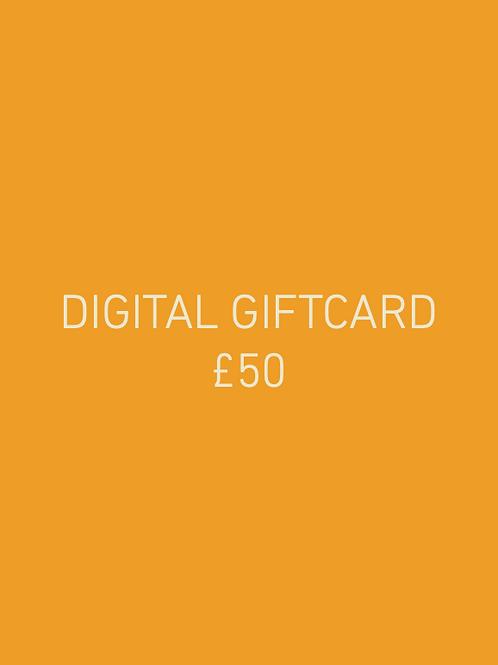 Digital Giftcard £50