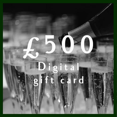 Digital Giftcard £500