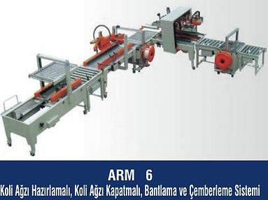 ARM-6 Koli Ağzı Kapatma,Bantlama, Çemberleme Sistemi