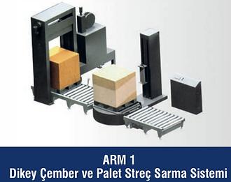 ARM-1 Dikey Çember ve Palet Streç Sarma Sistemi