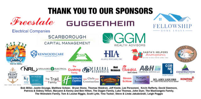 Thank you to all our amazing sponsors for the 2nd Annual Golf tournament - 2020