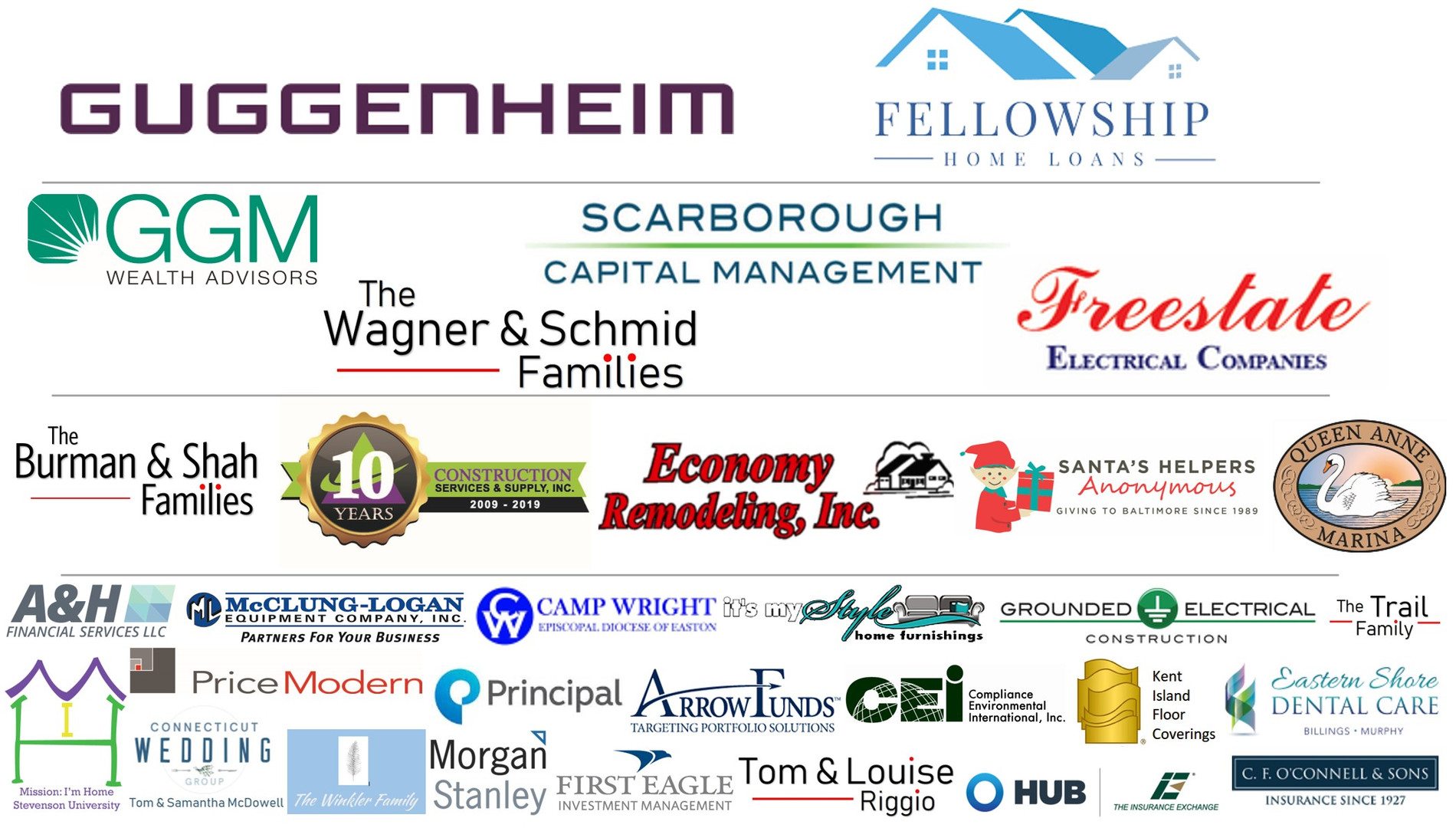 Thank you to all our amazing sponsors for the 2nd Annual Golf tournament - 2019
