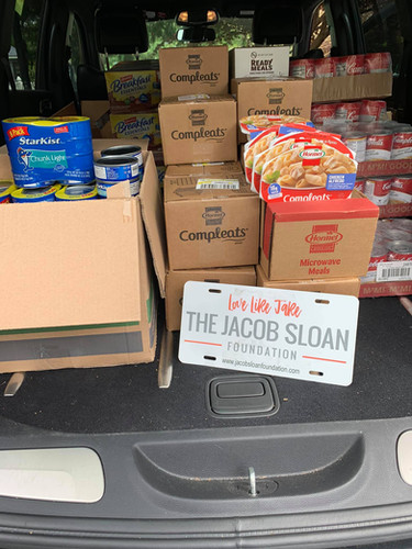 Collecting Food items for the local food banks