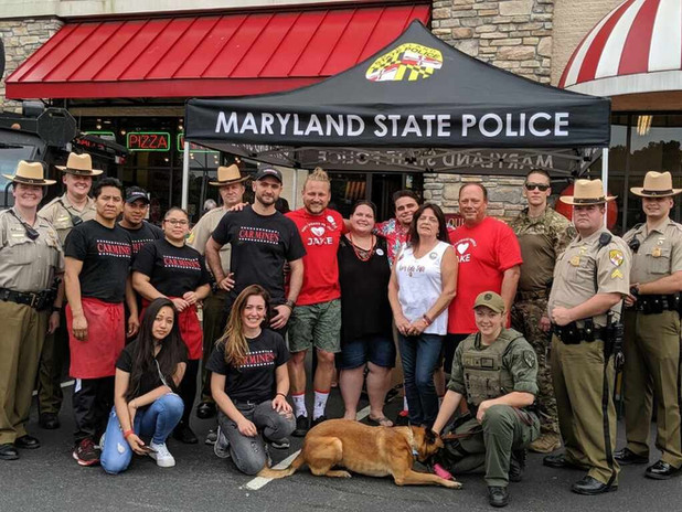 JSF Fundrasier at Carmines NY Kitchen. Great to have our local heroes at the event as well!