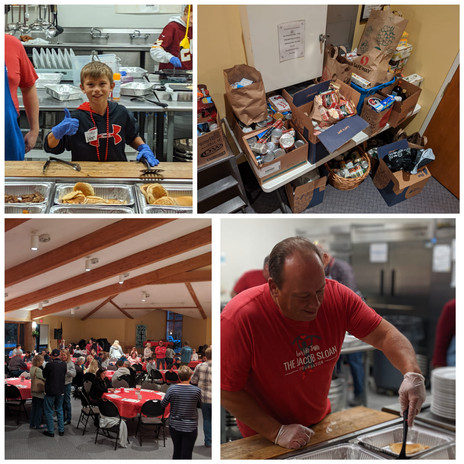 Pancake Community Dinner and food drive at Christ Church
