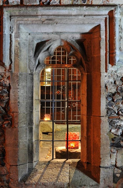Hyde Fragments installation at night