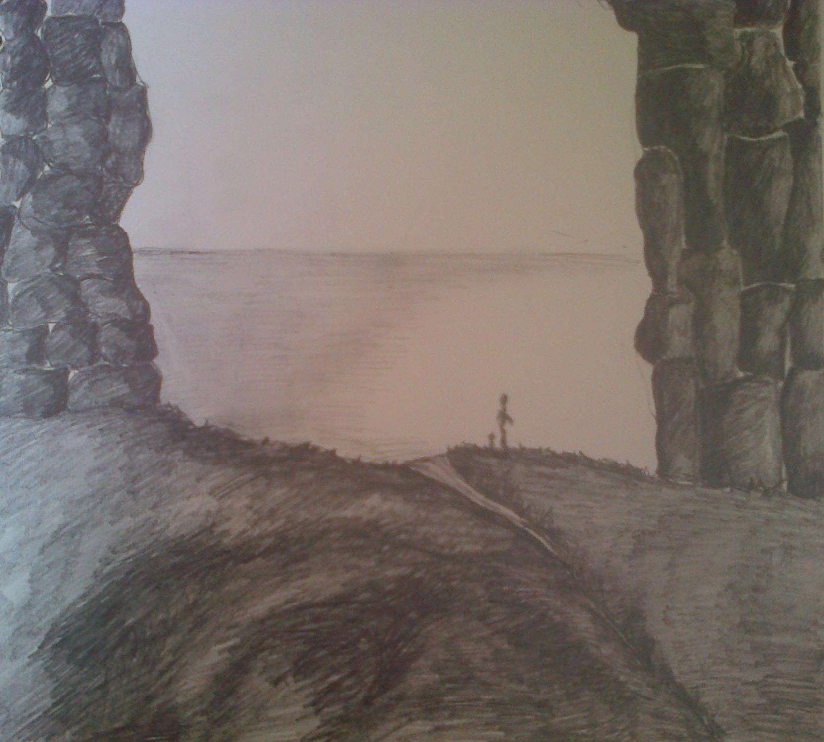 Sketch done at Scottish coast