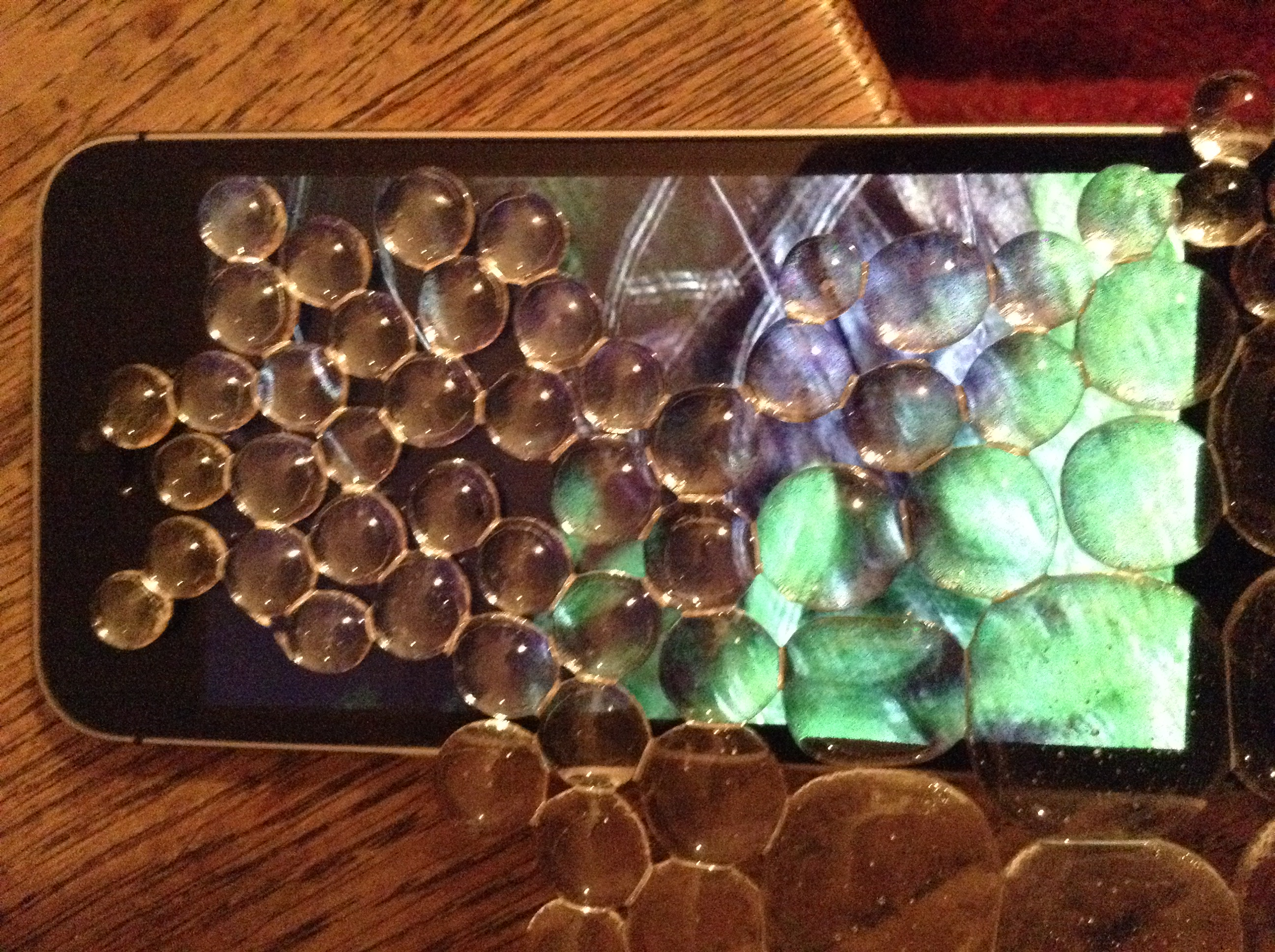 Beaded Glass Screen on Screen