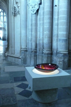 Font installed in Winchester Cathedral