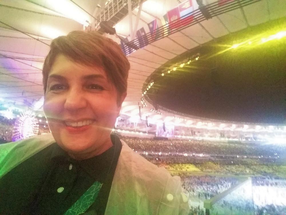 Eu, de novo, Guiga Soares no dia da abertura dos Jogos Olímpicos Rio 2016 no Maracanã ( Foto: Acervo pessoal)