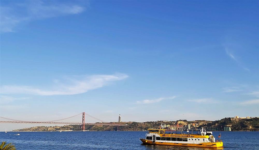 Ponte 25 de abril, rio Tejo, Lisboa, Portugal