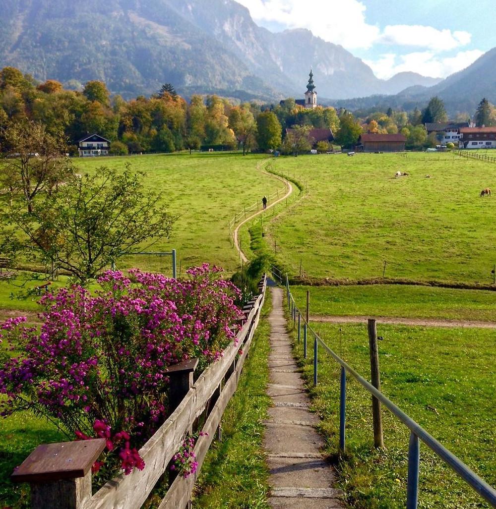 Bayerisch Gmain fronteira entre a Alemanha e a Áustria