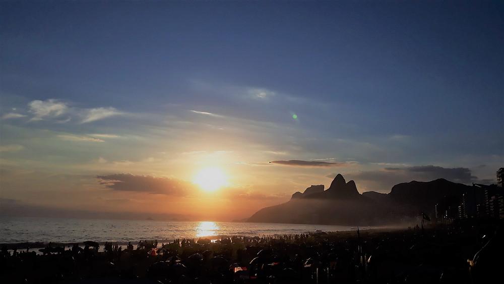 Vista do por do sol no Arpoador  (Foto: Guiga Soares)