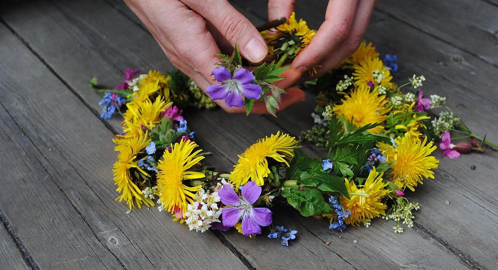 Guirlanda de flores, Suécia