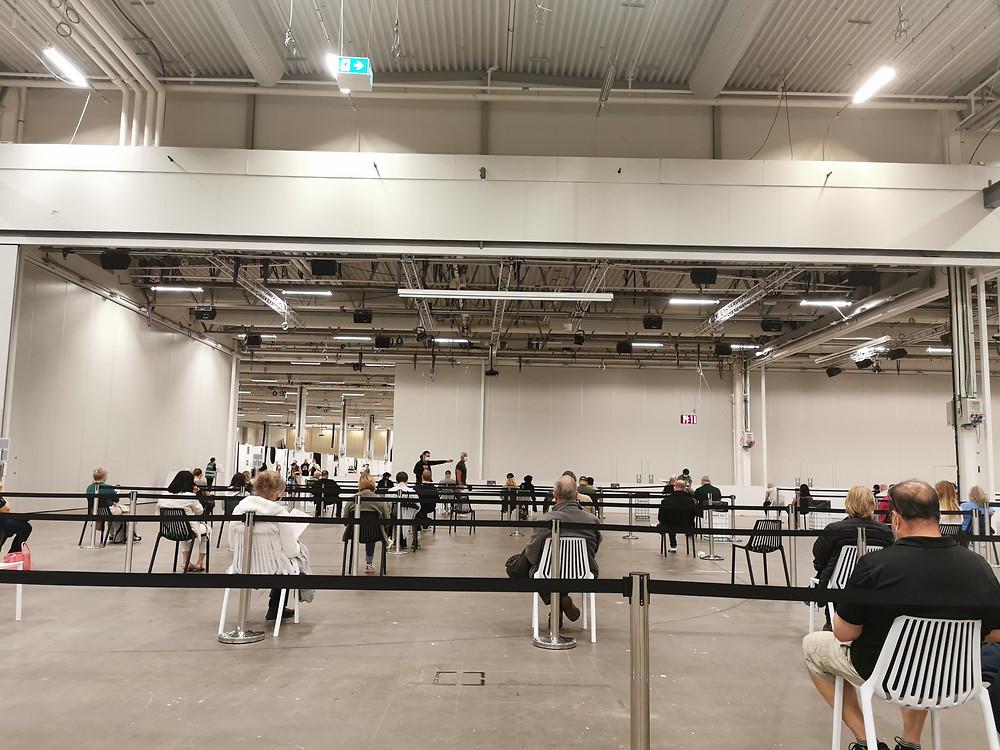 Centro de Vacinação, Estocolmo, Suécia