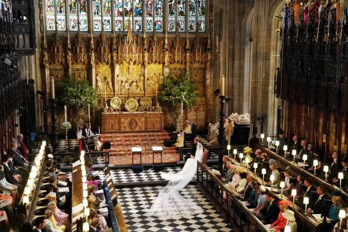 É no castelo de Windsor que está a capela de São Jorge: cenário do casamento ( Foto: Reuters)