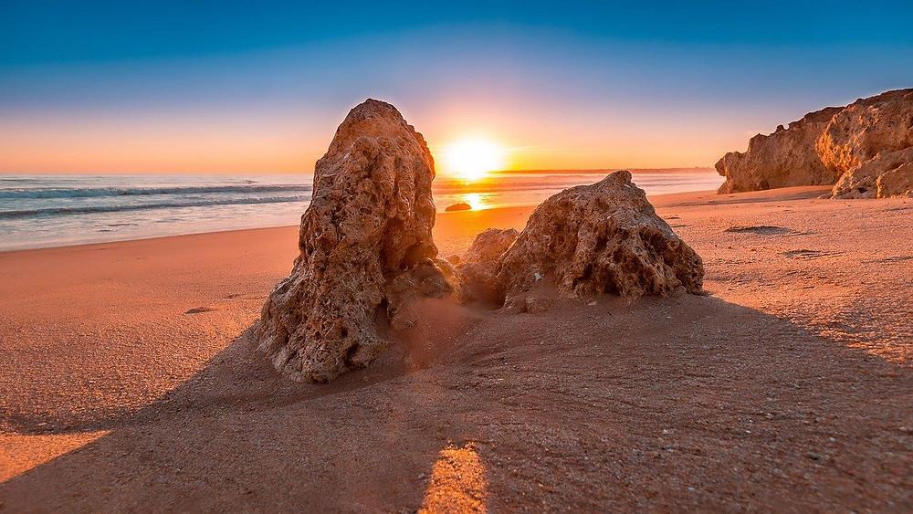 Por do sol no Algarve, Portugal