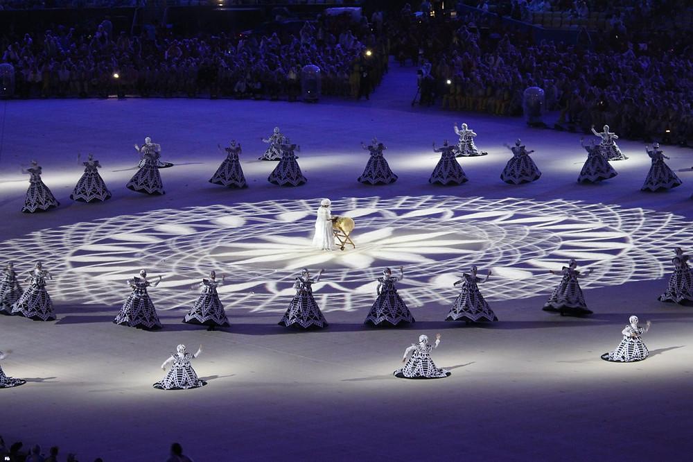 Abertura dos Jogos Olímpicos Rio 2016 no Maracanã: show de luzes e de criatividade (Foto: Pixabay)