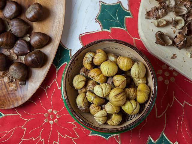 As castanhas portuguesas não faltavam na ceia de Natal