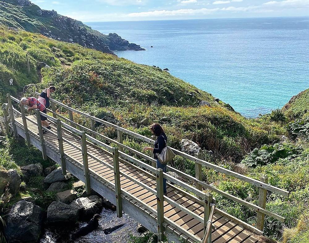 Costa de St. Ives, Cornualha, ao sul do Reino Unido.