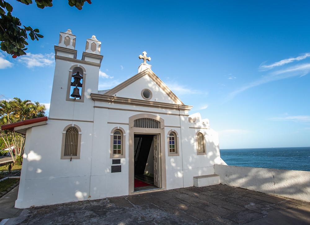 A capela de Santa Bárbara cuja a pedra fundamental é de 1612 ( Foto: Fundação Cultural do Exército)